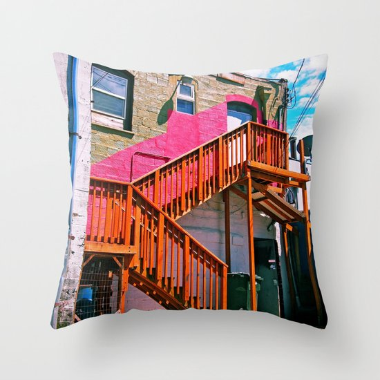 Alleyway architecture Throw Pillow