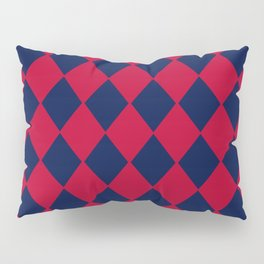 Red blue geometric pattern Pillow Sham