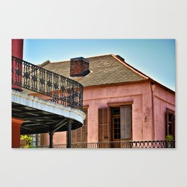 Open Shutters in the French Quarter Canvas Print