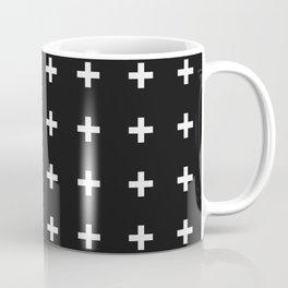 White Plus on Black /// Black n' White Series Coffee Mug