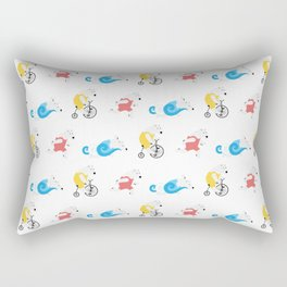 Polar Bear Triathletes Rectangular Pillow