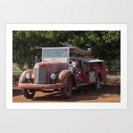 Antique Fire Truck Art Print