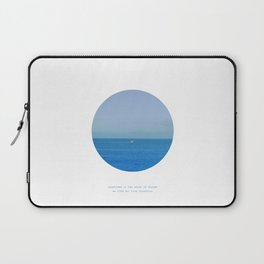 Sometimes in the waves of change we find our true direction Laptop Sleeve