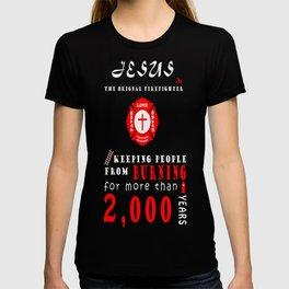 Jesus the original firefighter T-shirt