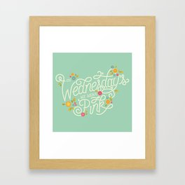 On Wednesdays We Wear Pink Framed Art Print