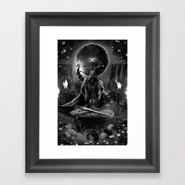 I. The Magician Tarot Card Illustration Framed Art Print