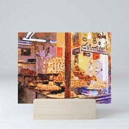 Showcase of Aleppo pastry shop Mini Art Print