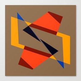 geometric symmetry orange and yellow Canvas Print