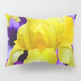 PURPLE PANSIES & YELLOW IRIS MONTAGE Pillow Sham