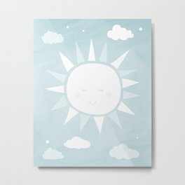 Happy Sunshine Nursery Art Metal Print
