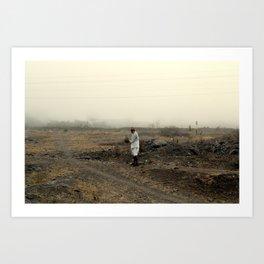 alone in the desert Art Print