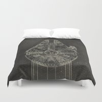 falcon Duvet Covers featuring Millennium Falcon by LindseyCowley
