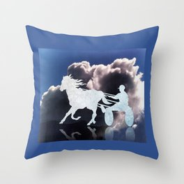 Chariots of Fire - Harness Racing Throw Pillow
