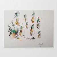 pineapples Canvas Prints featuring Pineapples  by Oriane Jouët