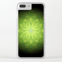 enigma. sacred geometry mandala. Clear iPhone Case
