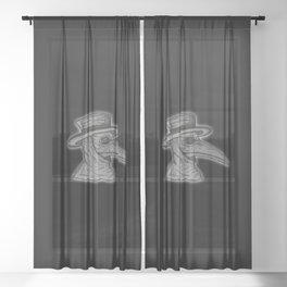 Plague Doctor Sheer Curtain