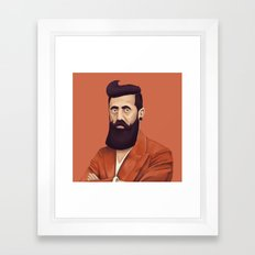 The Israeli Hipster leaders - Binyamin Ze'ev Herzl Framed Art Print
