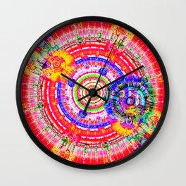Fractal Kaleidescope Wall Clock