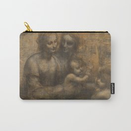 The Virgin and Child with St Anne and St John the Baptist by Leonardo da Vinci Carry-All Pouch