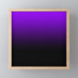 black and purple Framed Mini Art Print