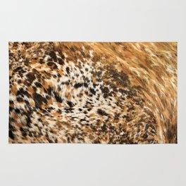 Rustic Country Western Texas Longhorn Cowhide Rodeo Animal Print Rug