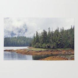 Scenic landscape  near Ketchikan Alaska. Rug