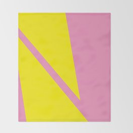 Pink Angles Throw Blanket