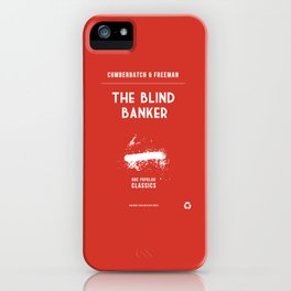 BBC Sherlock The Blind Banker Minimalist Poster iPhone Case