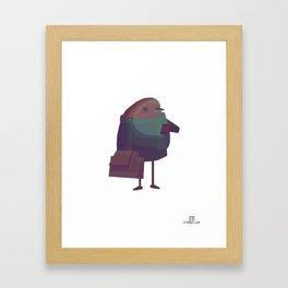 Humanimals - Robin Framed Art Print