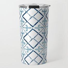Azulejo III - Portuguese hand painted tile Travel Mug