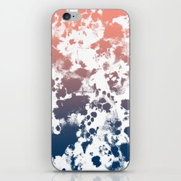 Ombre fade tie dye pastel trendy color way throwback retro palette 80s 90s style iPhone Skin