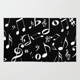 Music in the Air Black Rug