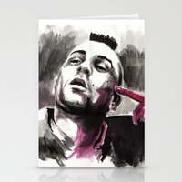 taxi driver Stationery Cards featuring Taxi Driver by Juan Pablo Cortes