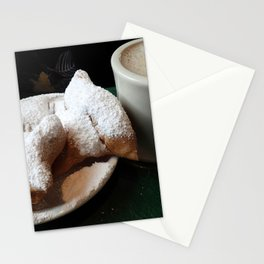 Beignets and Coffee, a New Orleans Treat Stationery Cards