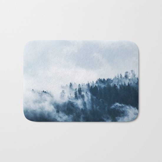 Smoke & Fog #blue Bath Mat