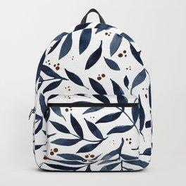 Pretty watercolor branches - indigo Backpack
