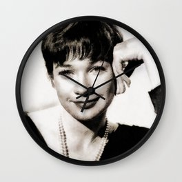 Shirley MacLaine by JS Wall Clock