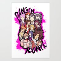 dangan ronpa Art Prints featuring Dangan Ronpa by Iceh