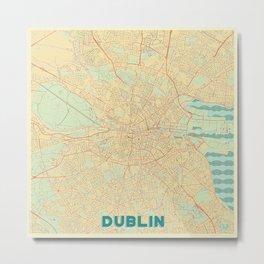 Dublin Map Retro Metal Print