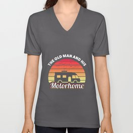 The old man and his Motorhome RV Gift Unisex V-Neck
