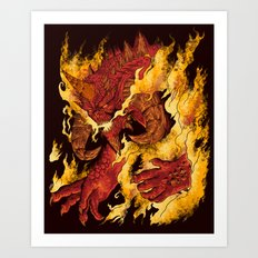 The Lord of Terror Art Print
