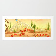 The Deadly Desert Art Print