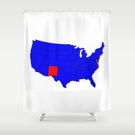 State of New Mexico Location Shower Curtain