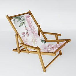 Girly Pastel Pink Roses Garden Sling Chair
