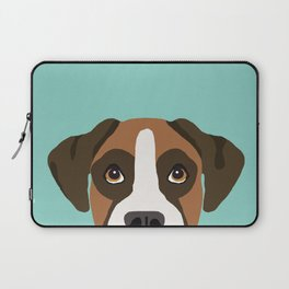 Boxer pet portrait cute dog lover rescue dog lover Boxer portrait dog breeds Laptop Sleeve