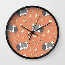 Guinea pig Pattern, Popcorning Wall Clock