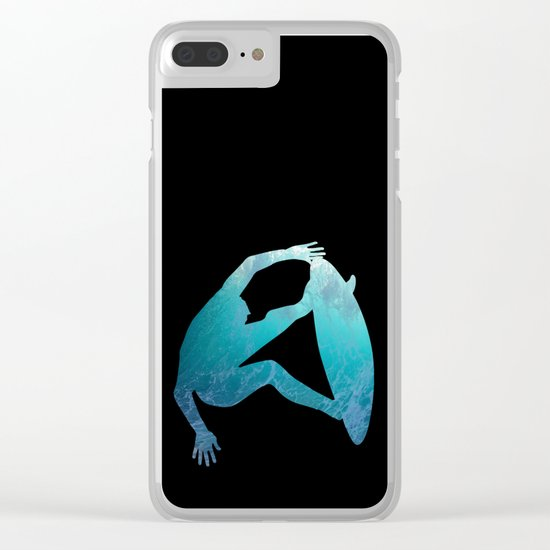 Ride the waves - surfing Clear iPhone Case