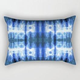 Lapis Shibori Stripe Rectangular Pillow