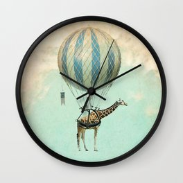 Sticking your neck out, giraffe Wall Clock