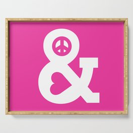 Peace and Love (pink edition) Serving Tray